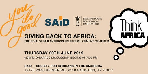 THINK AFRICA SERIES at SAiD! Promoting Civic Engagement Through Dialogue.