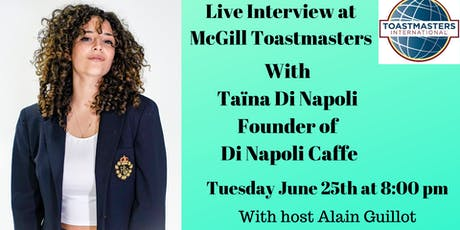 Live Interview with Entrepreneur Taina Di Napoli tickets