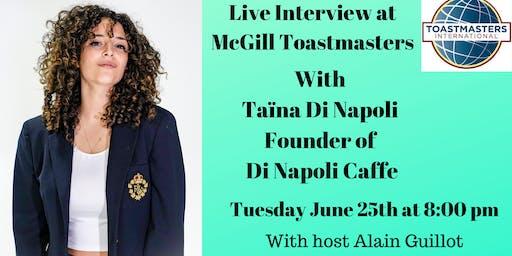 Live Interview with Entrepreneur Taina Di Napoli