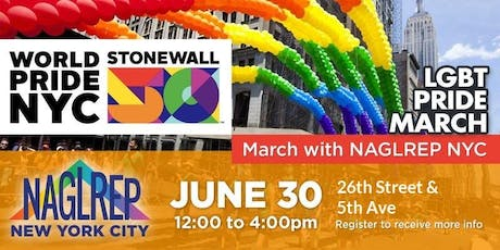 NAGLREP NYC World Pride March June 30 tickets