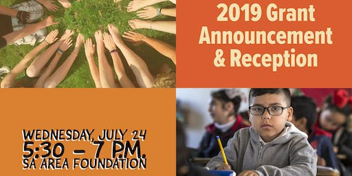 2019 Grant Announcement and Reception