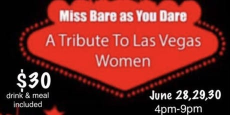 """Miss Bare As You Dare """" Tribute to Women"""" by Chef Evadney Hyatt: adm $30 tickets"""