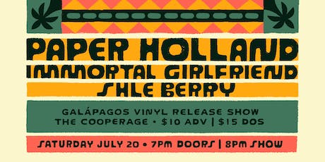 Paper Holland Vinyl Release with Immortal Girlfriend and Shle Berry tickets
