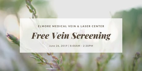 Free Varicose & Spider Vein Screening tickets