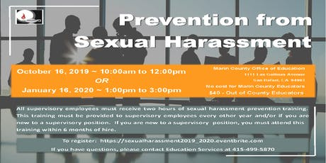 Prevention from Sexual Harassment-Marin County Educators- tickets
