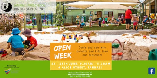 Open Week - Jannali Preschool Kindergarten