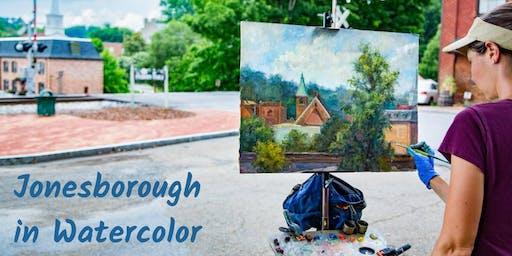 Jonesborough In Watercolor