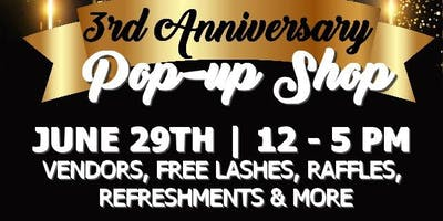 3year Anniversary Pop up shop