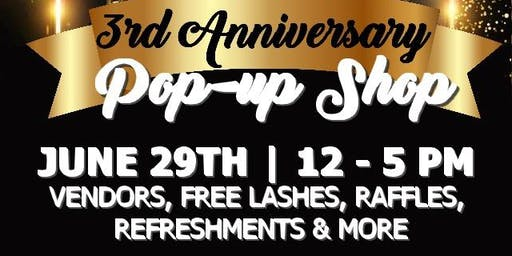3year Anniversary Pop up shop