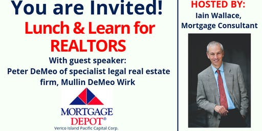 Lunch and Learn for Victoria Realtors, Guest speaker Peter DeMeo of Mullin DeMeo