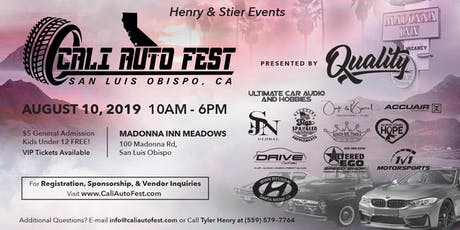 Cali Auto Fest - Presented by Quality  tickets