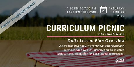 Curriculum Picnic with Tina Hargaden and Nissa Quill tickets