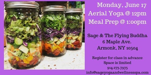 Aerial Yoga and Meal Prep