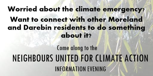 Neighbours United for Climate Action (NUCA) Information Evening