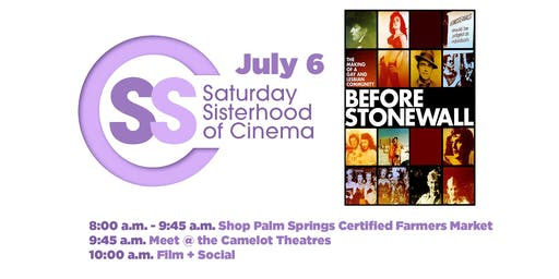 Saturday Sisterhood Of Cinema: BEFORE STONEWALL