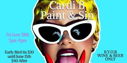 Cardi B Paint & Sip