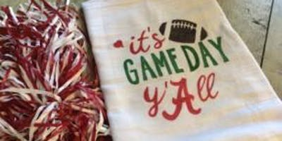 Make and Take Game Day Towel Night
