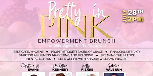 Pretty in Pink Empowerment Brunch for Girls ages 10-18