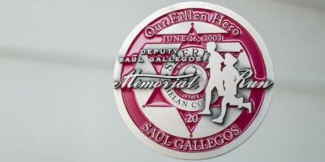 Deputy Saul Gallegos Memorial Run - Virtual Race tickets