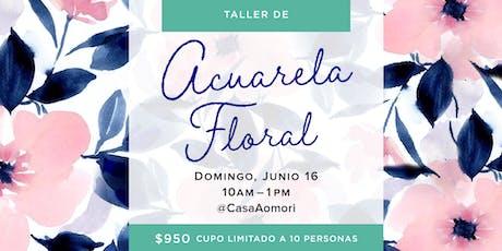 Taller de Acuarela Floral entradas