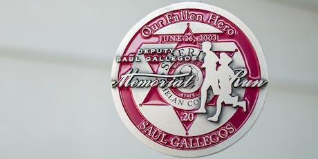 Deputy Saul Gallegos Memorial Run- Virtual Race tickets