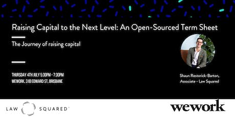 Raising Capital to the Next Level: An Open-Sourced Term Sheet tickets
