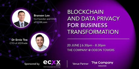 Blockchain and Data Privacy for Business Transformation  tickets