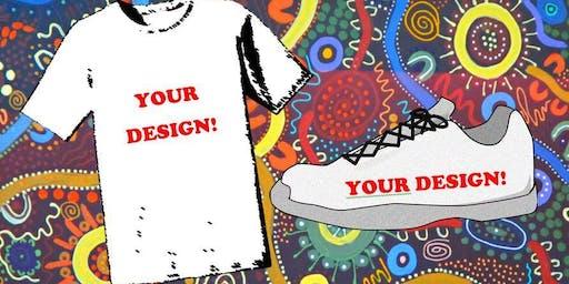 Aboriginal Design T-shirt and Shoe Painting (NAIDOC Activity)