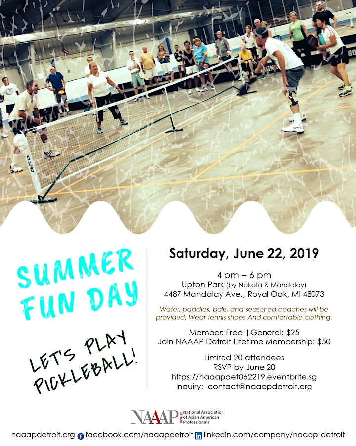 Summer Fun Day - Let's Play Pickleball! image