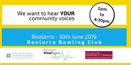 Vital Signs Forum - Community Voices - Boolarra tickets