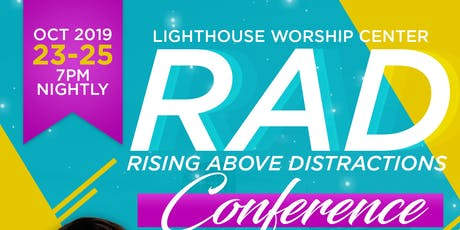 Rising Above Distractions (RAD) Conference tickets
