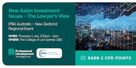 New Asian Investment Issues - The Lawyer's View tickets