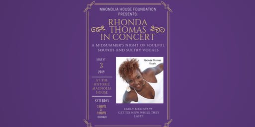 Magnolia House Foundation Presents: Rhonda Thomas Live Benefit Concert