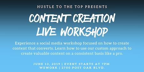 #HustleToTheTop - Content Creation Live Workshop tickets