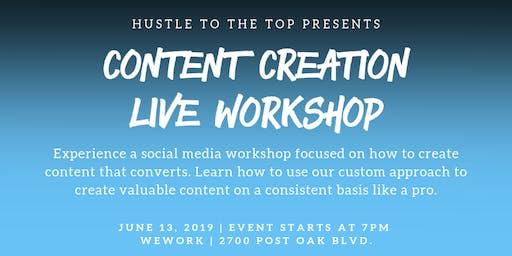 #HustleToTheTop - Content Creation Live Workshop