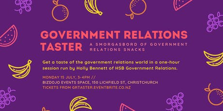 GR Taster: a smorgasbord of government relations snacks! tickets