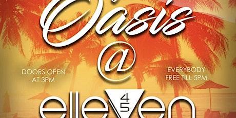Oasis @ Elleven 45 tickets