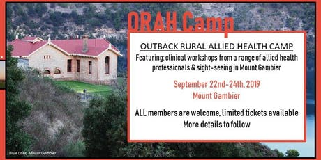 ORAH Camp-Mt Gambier SA tickets