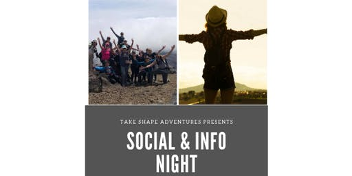 Take Shape Adventures Social & Info Night