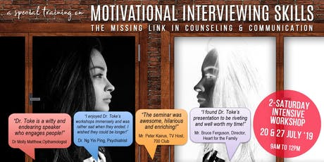 MOTIVATIONAL INTERVIEWING SKILLS BY DR. FRED TOKE tickets
