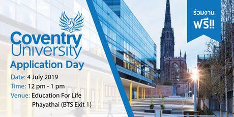 Coventry University Application Day 2019 tickets
