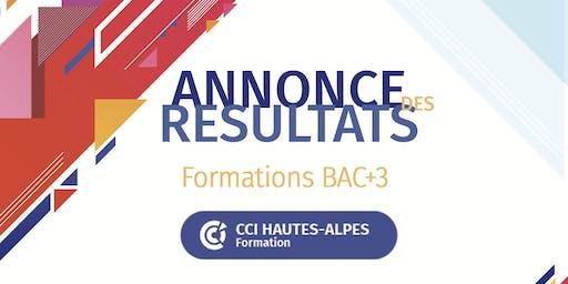 PROCLAMATION DES RESULTATS BAC+3 - CCI FORMATION