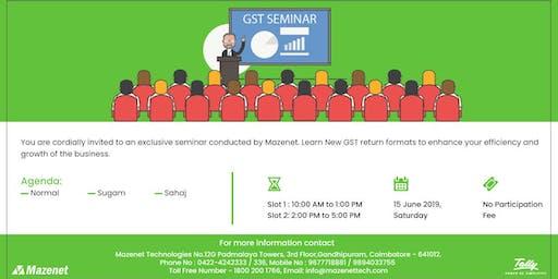 Free GST Seminar In Tally