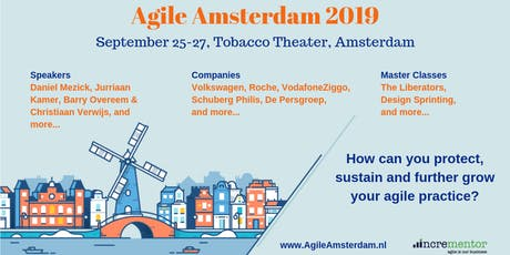 Agile Amsterdam 2019 | Sept 25-27 | Agile Event & optional Master Classes tickets