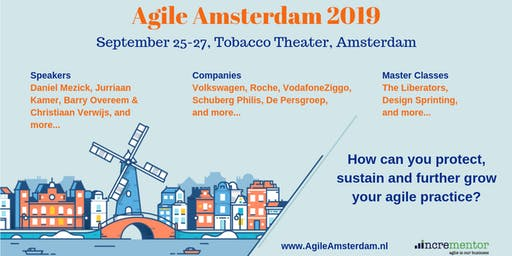 Agile Amsterdam 2019 | Sept 25-27 | Agile Event & optional Master Classes