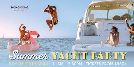 Summer yacht party - Hong Kong Living tickets