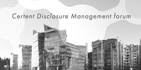 Certent Disclosure Management forum 2019 tickets