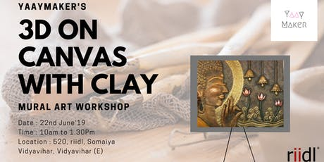 3D On Canvas With Clay tickets