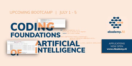 Coding Foundations of Artificial Intelligence - Python for AI tickets