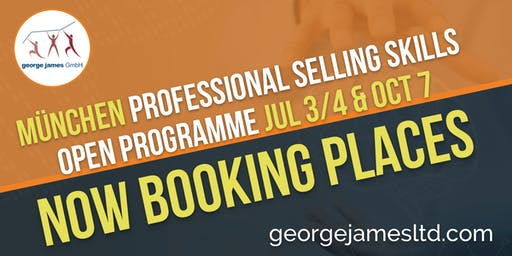 Professional Selling Skills Programme - München - Jul 3/4 & Oct 7